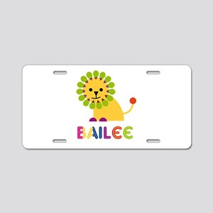 Bailee the Lion Aluminum License Plate