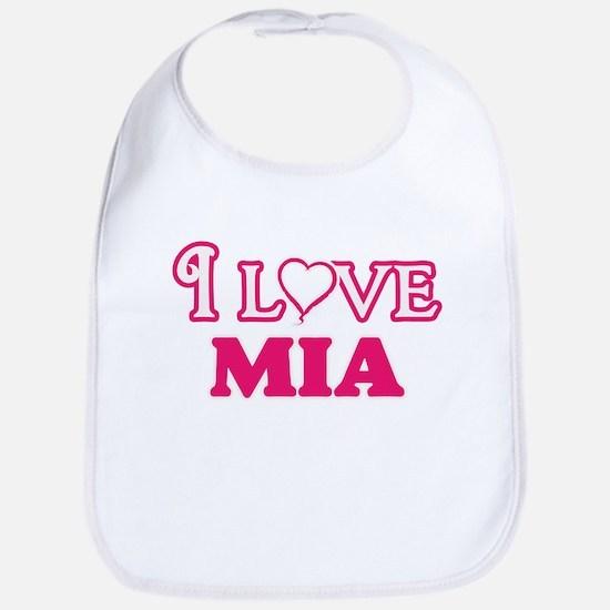 I Love Mia Baby Bib