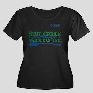 S Creek Paddlers Women's Plus Size Scoop Neck Dark