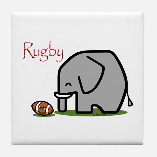 Rugby Elephant (2) Tile Coaster