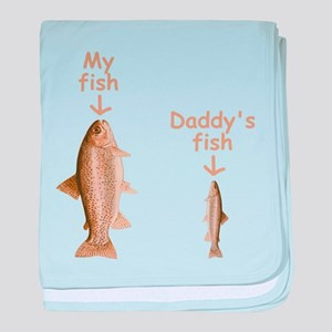 My Fish, Daddy's Fish baby blanket