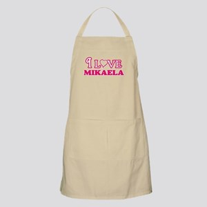 I Love Mikaela Light Apron