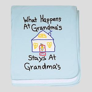 Grandma's House baby blanket