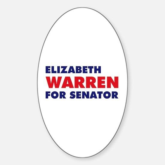 Warren for Senator Sticker (Oval)