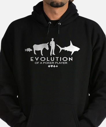 Evolution of a Poker Player Hoodie (dark)