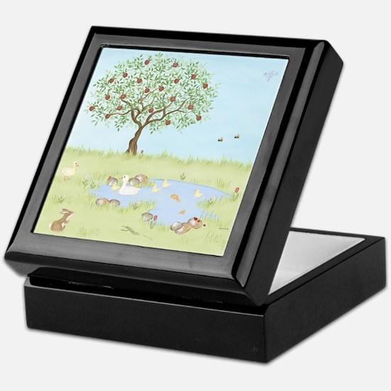 Apple Tree - Duck Pond Keepsake Box