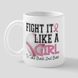 Second 2nd Base Breast Cancer Mug