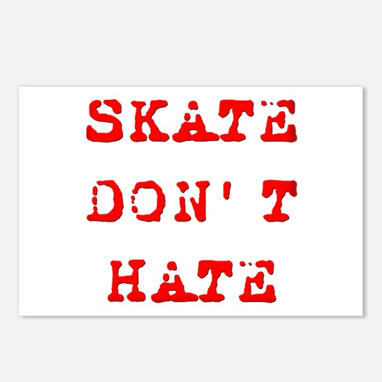 Skate Don't Hate Postcards (Package of 8)