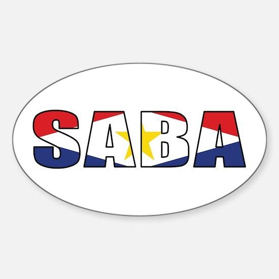 Saba Sticker (Oval)