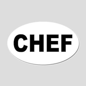 Chef 22x14 Oval Wall Peel