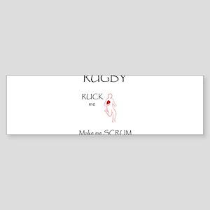 Rugby Ruck Scrum Sticker (Bumper)