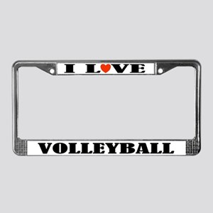 Volleyball License Plate Frame (I Love)