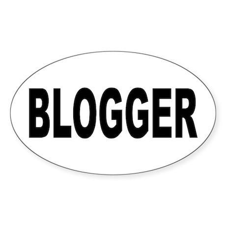 Blogger Sticker (Oval)