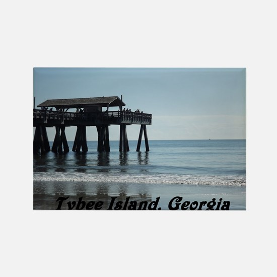 Tybee Island Georgia 17 Rectangle Magnet