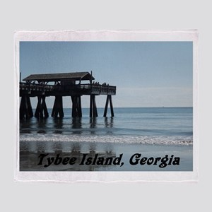 Tybee Island Georgia 17 Throw Blanket