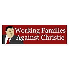 Working Families Against Christie sticker