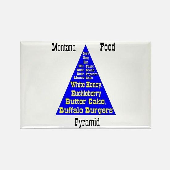 Montana Food Pyramid Rectangle Magnet