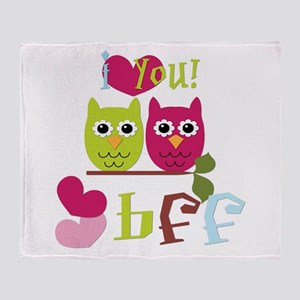 BFF Love Throw Blanket