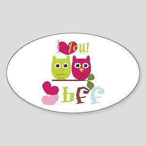 BFF Love Sticker (Oval)