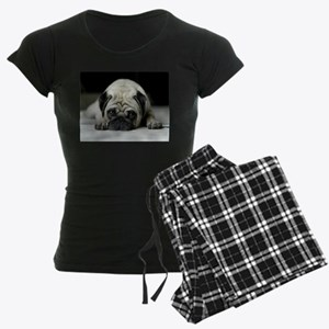 Sad Pug Women's Dark Pajamas