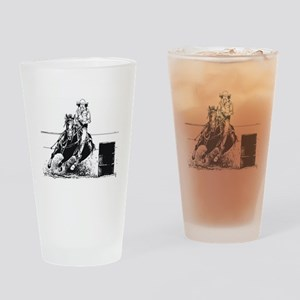Rodeo Cowgirl Drinking Glass