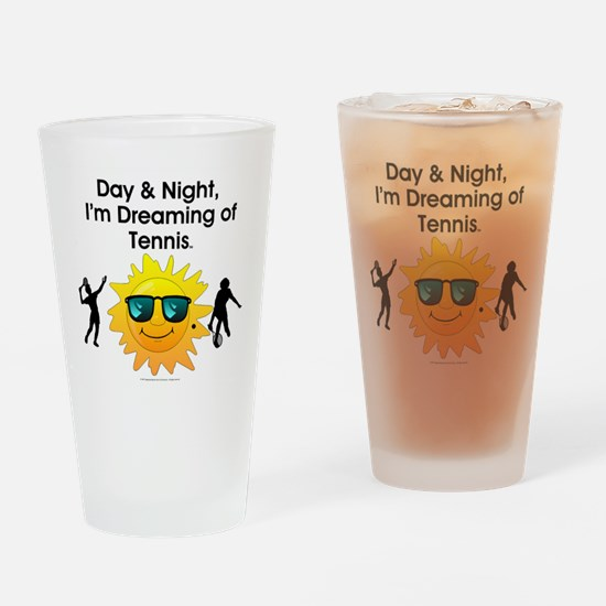 Dreaming of Tennis Drinking Glass