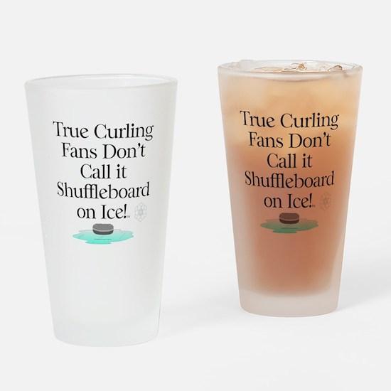 Curling Slogan Drinking Glass
