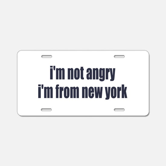 I'm from New York Aluminum License Plate