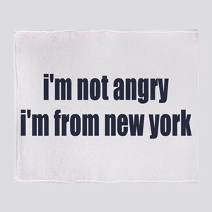 I'm from New York Throw Blanket
