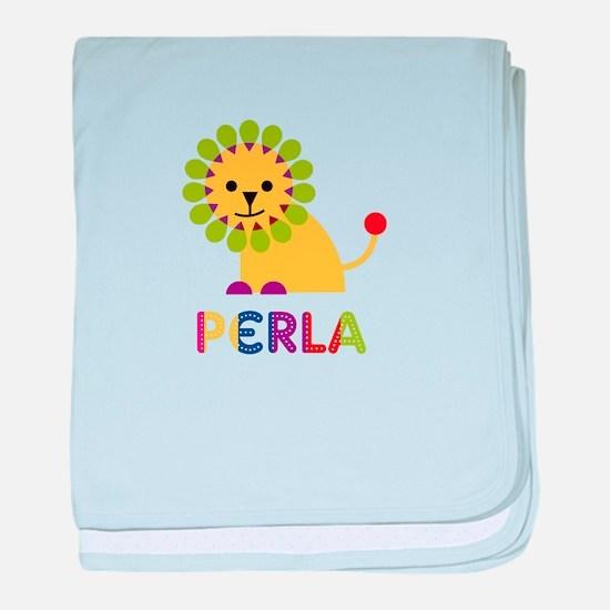 Perla the Lion baby blanket