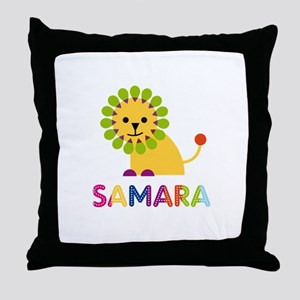 Samara the Lion Throw Pillow