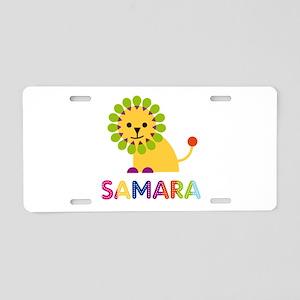 Samara the Lion Aluminum License Plate