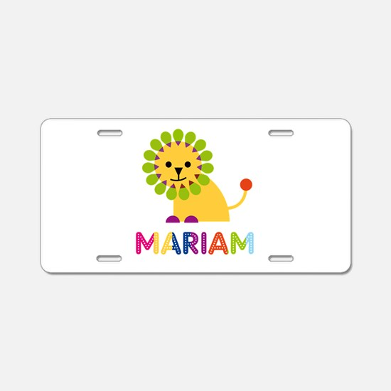 Mariam the Lion Aluminum License Plate
