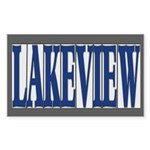 Lakeview Sticker (Rectangle 10 pk)