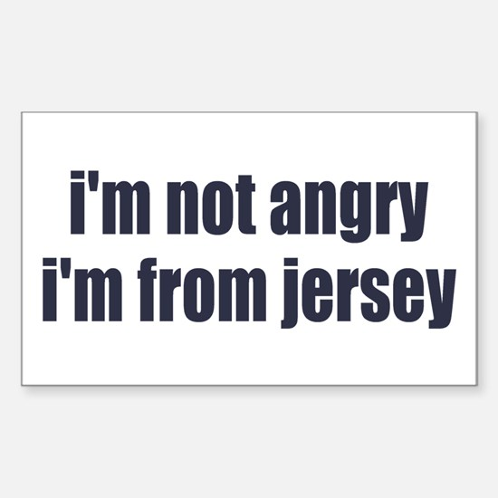 I'm from Jersey Sticker (Rectangle)