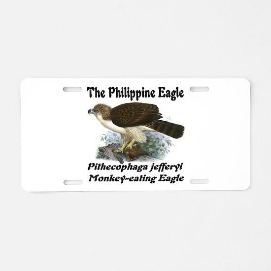 Philippine Eagle Aluminum License Plate