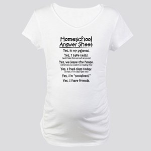 Homeschool Answers Maternity T-Shirt