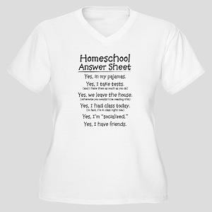 Homeschool Answers Women's Plus Size V-Neck T-Shir