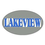 Lakeview Sticker (Oval 10 pk)