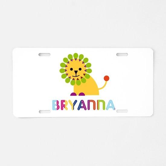 Bryanna the Lion Aluminum License Plate