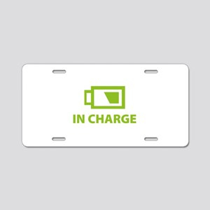 IN CHARGE Aluminum License Plate