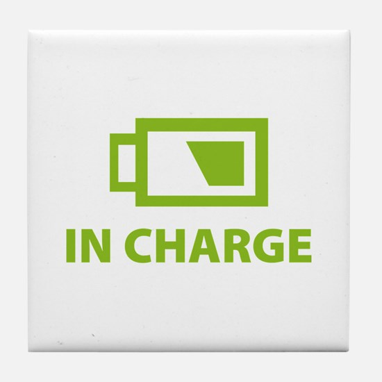 IN CHARGE Tile Coaster