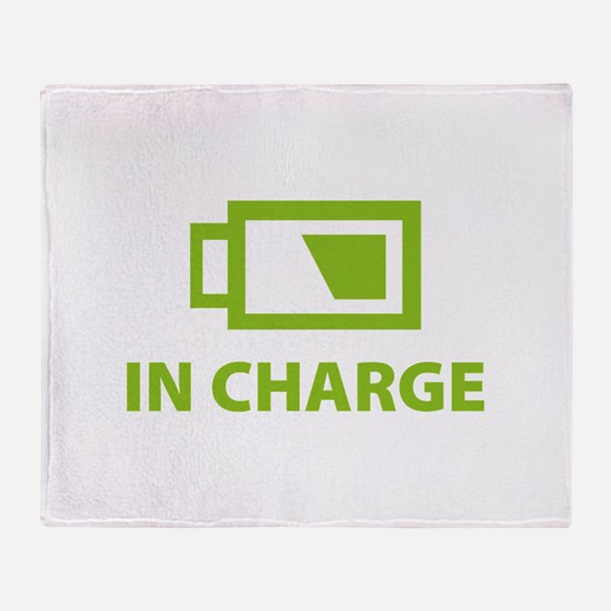 IN CHARGE Throw Blanket