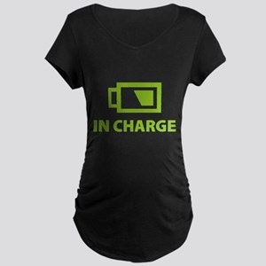 IN CHARGE Maternity Dark T-Shirt