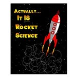 Rocket Science Small Poster