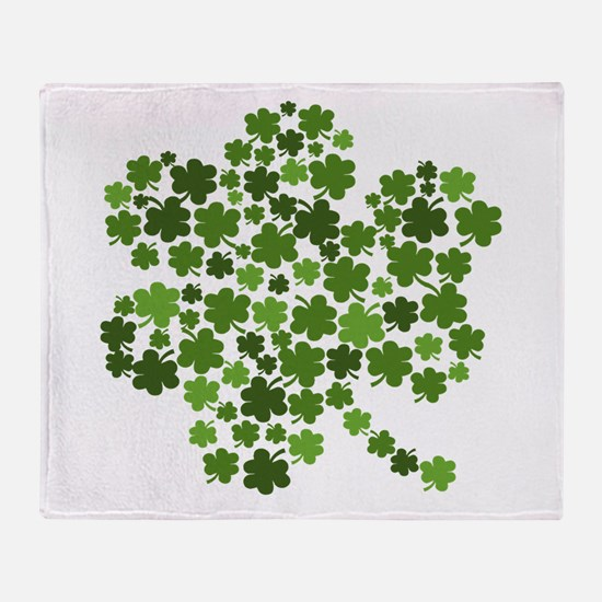 St Patricks Day Shamrocks Throw Blanket