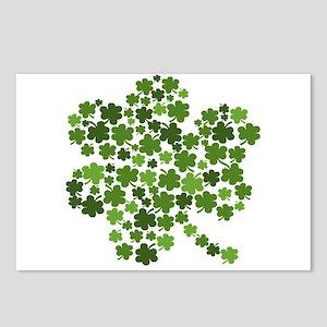 St Patricks Day Shamrocks Postcards (Package of 8)