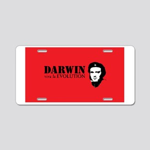 Red Darwin. Viva! Aluminum License Plate