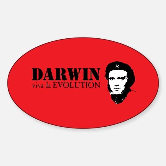 Red Darwin. Viva! Sticker (Oval)
