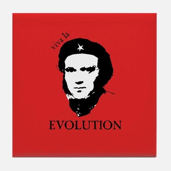 Red Darwin. Viva! Tile Coaster